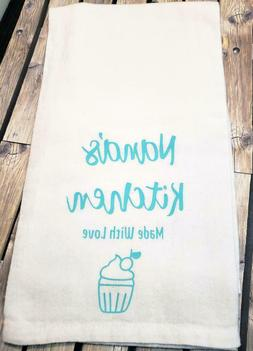 Decorated Flour Sack Dish Towel Handcrafted Cotton Nana's Ki