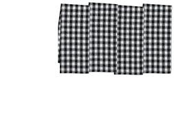 CC Home Furnishings Set of 4 Decorative Black and White Fren
