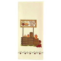 Decorative Dish Towel Cider Stand Apples Cream Flour Sack Co