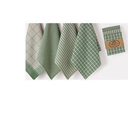 CC Home Furnishings Set of 4 Decorative Sage Green 4-Design