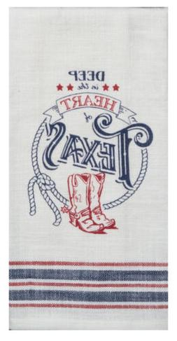 Deep in the Heart of TEXAS Print Western Woven Kitchen Dish