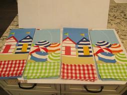 DII Design Imports beach kitchen Dish Towels Set of 4 cabana
