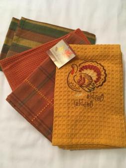 "Kay Dee Designs 100% COTTON Kitchen Towels 4 pc. Set  18"" x"