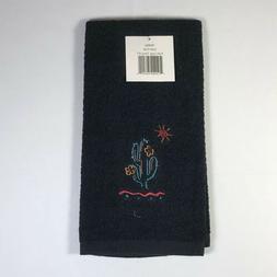 Kay Dee Designs Black Towel with Cactus