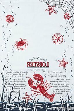 Kay Dee Designs F0400 Eat Lobster Tea Towel