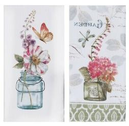 designs garden floral kitchen towel