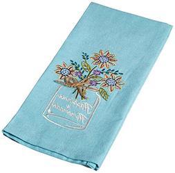 Kay Dee Designs Happiness Mason Jar Embroidered Tea Towel