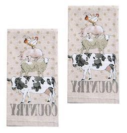 Kay Dee Designs R3250 Farm Life Animals Terry Towel