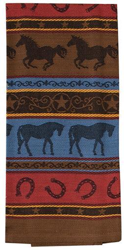 Kay Dee Designs R3778 Grace & Beauty Horses Jacquard Towel