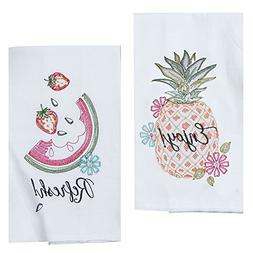 Kay Dee Designs Hawaiian Summer Fruit Embroidered Kitchen To