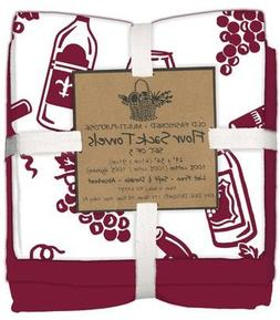 Kay Dee Designs Wine Flour Sack Towels, Set of 3