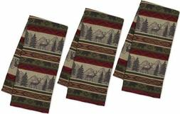 DII Back Country Stripe Jacquard Towel - Set of 3