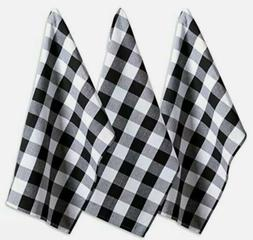 "DII Cotton Buffalo Check Plaid Dish Towels, 20x30"" Set of 3,"