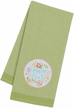 """DII Easter Kitchen Towel """"Happy Easter"""" 18"""" x 28"""" Cotton NEW"""