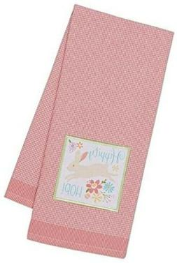 """DII Easter Kitchen Towel """"Hippity Hop"""" 18"""" x 28"""" Cotton NEW"""