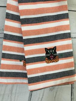 DII For The Home Cotton Kitchen Towels Halloween Vtg Embroid