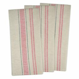 Design Imports DII Red French Stripe Woven Dishtowel