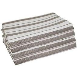 - Dish Cloths & Towels 4 Pack Basket Weave Kitchen Grey 100%