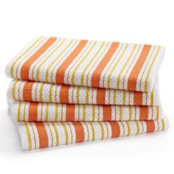 Cotton Craft - 4 Pack Dish Cloths, 15x15 - Coral, Pure 100%