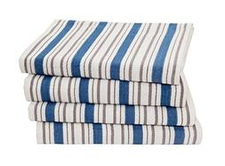 Cotton Craft - 4 Pack Dish Cloths, 15x15 - Azure Blue, Pure