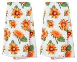 Kitchen Dish Hand Towels Sunflowers Spring Summer Flowers Su
