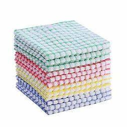 12 Pieces Dish Towel 100% Cotton Kitchen Towels Lot Set Mix