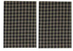 DISH TOWEL SET/2 - STURBRIDGE BLACK TAN PLAID BY PARK DESIGN