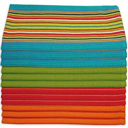 Kitchen Dish Towels Salsa Stripe - 100% Natural Absorbent Co