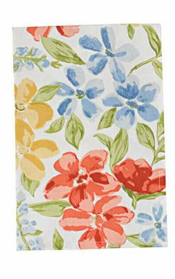 Park Designs Dishtowel Emily Floral Red Yellow Green Blue Co