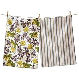 Tag LTD Dishtowels Dish Cotton Cloths Grapevine Striped Jacq