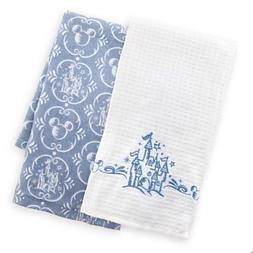 Disney Parks Castle Pattern Kitchen Dish Towel Set of 2 NEW
