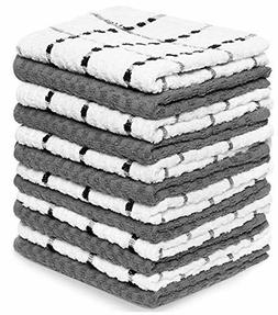 Dobby Weave Kitchen Towels, 12 Pack - 100% Soft Cotton - 15