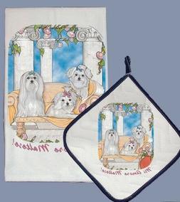 Pipsqueak Productions DP983 Dish Towel and Pot Holder Set -