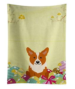 Caroline's Treasures Easter Eggs Corgi Kitchen Towel, Multic