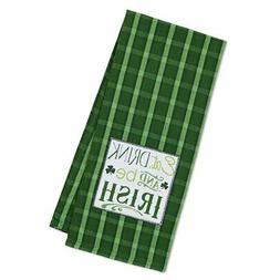 Eat, Drink & Be Irish Embellished Kitchen Dish Towel