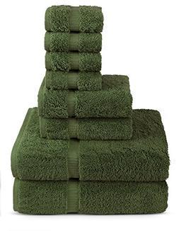 Turkuoise Turkish Towel 8 Piece Eco Friendly Cotton Towel Se