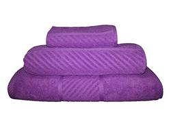 Maghso 3-Piece Egyptian Cotton Towel Set, Lavender