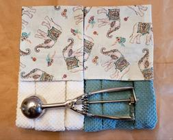 Elephants Kitchen & Bath Decor Hanging Towels Hook & Loop US