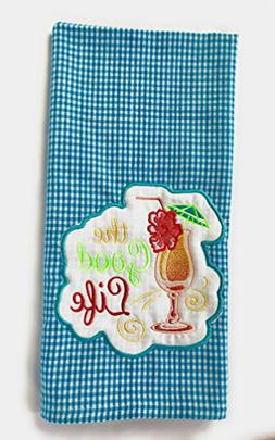 Beach Housewarming Gifts, Embroidered Beach Theme Kitchen To
