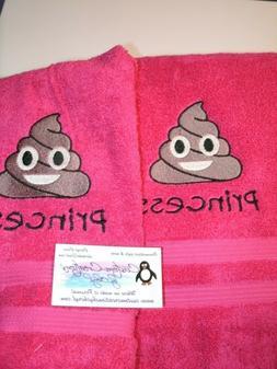 Emoji Poop Personalized Hand Towels Emoji Bathroom Emoji Kit