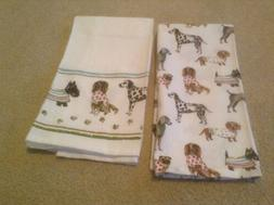 COOKSMART ENGLAND DOGS IN THE KITCHEN TEA TOWELS BANDANAS SW