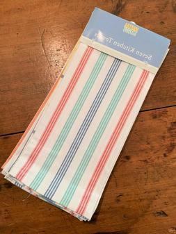 everyday vintage retro striped kitchen tea towels