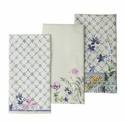 Maison d' Hermine Faïence 100% Cotton Set of 3 Kitchen Towe