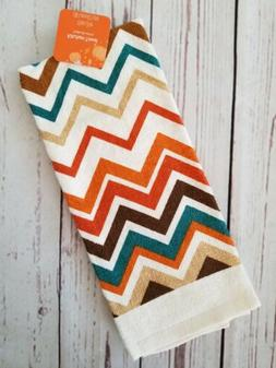 Fall Autumn Chevron Kitchen Towel