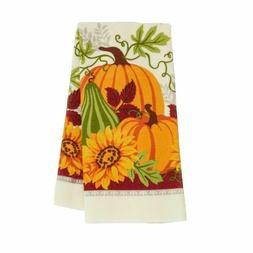 Set Of 2 Fall Autumn Pumpkin Sunflower Blue Truck Kitchen Hand Tea Towels