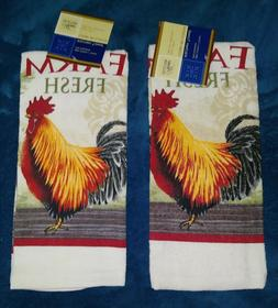 Home Collection Farm Fresh Rooster Kitchen Towel Set of 2