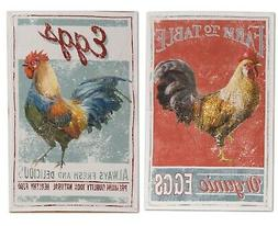 Farm Nostalgia Vintage Look Rooster Advertising Kitchen Tea