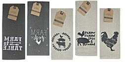 Farm to Table Print Kitchen Towels – Set of 5