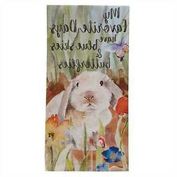 Farmhouse Spring Dish Towel Watercolor Lamb Bird Nest Egg Co