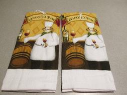 "Fat Chef ""WELCOMES YOU"" Kitchen Towel Set - 15"" x 25"" Kitche"